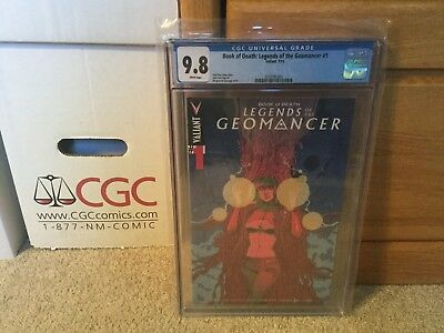 Book of Death: Legends of the Geomancer #1  1:25 Variant CGC 9.8 NM/MT Valiant