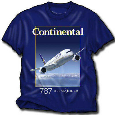 Continental 787 - T-Shirt - Airlines - New - Size Large
