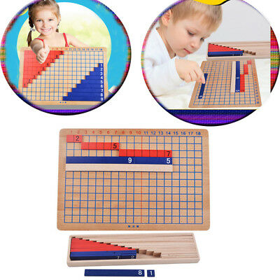 Holz Montessori Mathe Material Addition & Subtraktion Board Family Set Spielzeug