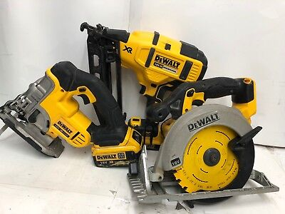 Dewalt DCN6602nd Fix Nailer  Dewalt DCS331 Jigsaw  Dewalt DSC391 Saw