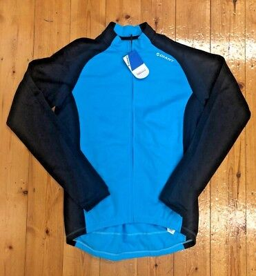 Giant Tour LS Thermal Jersey - Blue - Size S