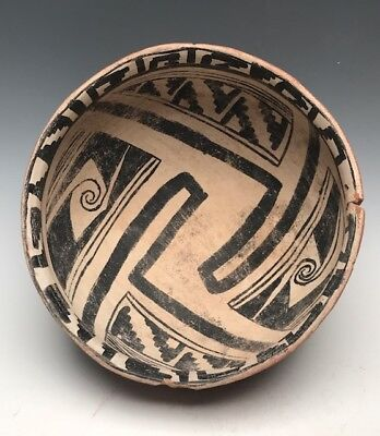 Ancient, GIANT Gila Polychrome Bowl (1350 AD – 1600 AD) Intact, as found!