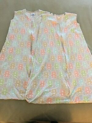 HALO Sleep Sack Lot of 2 - Pre-loved Cotton Large 12-18 Months (22 to 28 lbs)