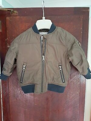 Next Baby Boys Bomber Jacket Green 6-9 Months(Used) in fantastic condition.