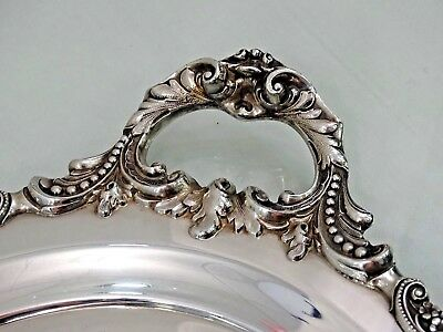 NICE WALLACE BAROQUE VERY LARGE VINTAGE SILVER PLATED TRAY not sterling AMERICAN