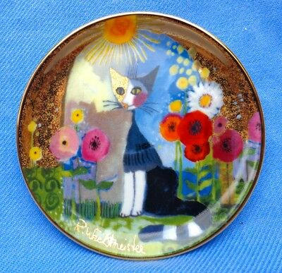 """GOEBEL. ROSINA WACHTMEISTER CAT SMALL PLATE. """"LUCE SOLAR"""" Perfect Condition RARE"""