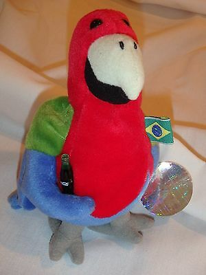 Coca Cola Coke Barrot the Parrot from Brazil International collection bean bags