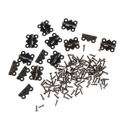 12pcs 4 Holes Butterfly Hinges Jewelry Gift Wine Box Wood Dollhouse Door Hinge Y