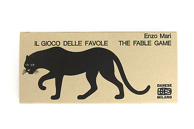 ENZO MARI FABLE GAME 1967 Original Rare Animal Puzzle Danese Milano Italy