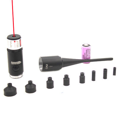 For .177 to .50 Caliber Red Laser Bore Sight Kit Red Dot Scope Bore Sighter