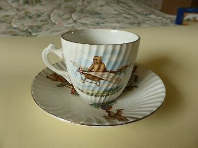 Vintage Bone China Cup, Saucer & Plate, adventures of Teddy