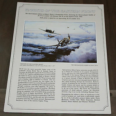 Robert Taylor - Knights of the Eastern Front - Aviation Art FLYER
