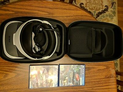 Sony PlayStation VR Headset Bundle with camera, controllers, and aim controller