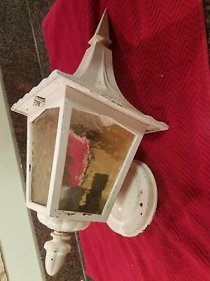 Vintage Cast Iron Wall Mount Outside House/porch Light Fixture