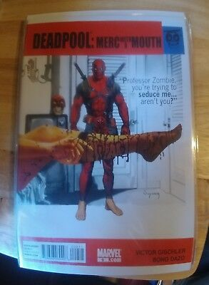 Deadpool Merc With A Mouth # 9 Professor Zombie Comic Book 2010!