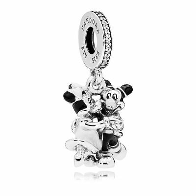 Authentic Pandora Disney Park Exclusive Mickey & Minnie Mouse Charm 75010573718P