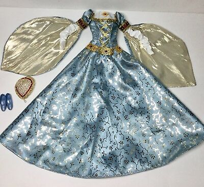 Barbie Outfit Medieval Gown Queen Guinevere Dress King Arthur Camelot Princess