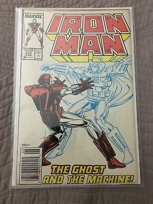 Iron Man #219 (Jun 1987, Marvel) First Appearance Of Ghost (movie!)