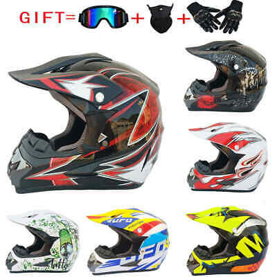 Off-road Helmet Motorcycle Extreme Sports ATV Dirt Bike Goggles Gloves Mask