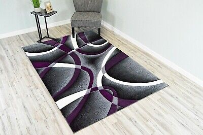 PREMIUM 3D Effect Hand Carved Thick Modern Contemporary Abstract Area Rug 2305