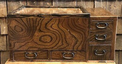 Antique General Country Store Wooden Display Counter Top Cabinet 26x14x13