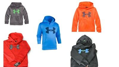 NWT Under Armour Little Boys HD Big Logo Pullover Hoodie UA Choose Color & Size