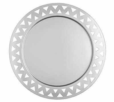 Alessi KK23 Round Tray with Open-Work Edge in Steel Mirror Polished - 48 cm