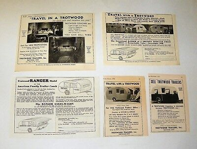 1930's Trotwood Trailer Ads