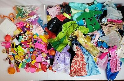 Huge Barbie & Like Style Doll Accessories & Clothing Lot