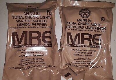 2 MRE DUAL SALE COMBO PACK 2020 Meals MILITARY MEALS READY TO EAT You Pick Meal.