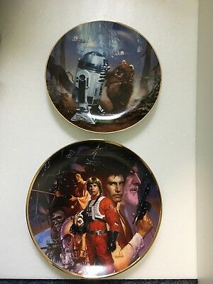 Star Wars R2-D2 And Wicket  & Star Wars Trilogy Collector's Plate