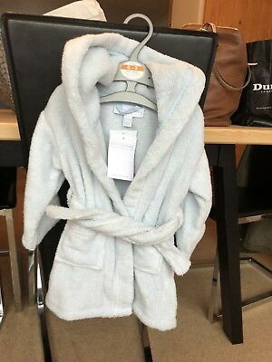 Little White Company Baby Blue Teddy Bath Robe