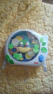 Fisher Price Mattel Flutter Dream Bird Crib Baby Projector Music Soother 2004