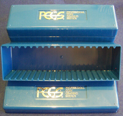 2 PCGS Classic Official Slab Blue Coin Boxes 20 Certified Graded Slabs Storage