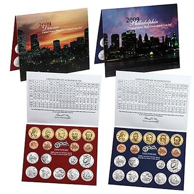 2009 US Mint SEALED ANNUAL Uncirc. Coin Set 36 Coins BU Satin Finish LINCOLNS