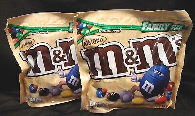 2 x Almond M&M's Family Size 15.90 oz Bag Best Before 1/2019