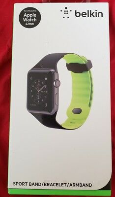 BELKIN Sport Band Apple Watch 42mm Wave Design Armband NEW IN BOX