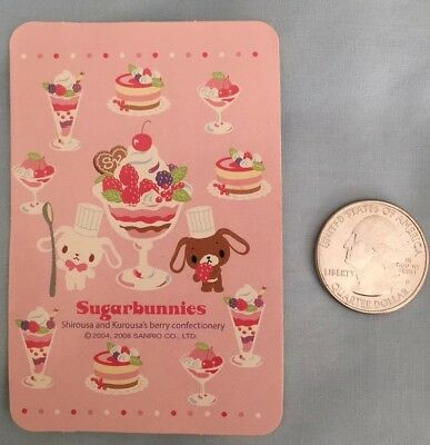 2008 Sugarbunnies Sticker Sanrio Kawaii Japan Flake Stationery
