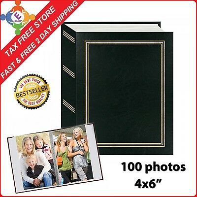 Photo Album Organizer Wedding Baby Family Pictures Storage Holds 4x6 100 Photos