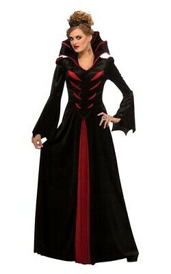 Queen Of The Vampires Womens Adult Gothic Dracula Fancy Dress Halloween Costume