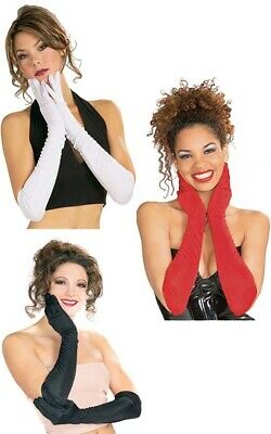 Long Gloves Formal Costume Opera Black Red White Fancy Dress Costume Accessory