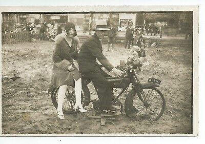 Real photo postcard of an early Chaterlea motorcycle and in very good condition
