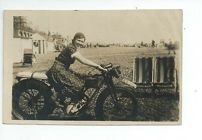 1st Real photo postcard of an early motorcycle  in very  good condition
