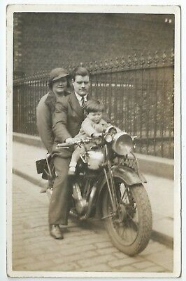 Real photo postcard of an early  motorcycle very good condition PO 4006