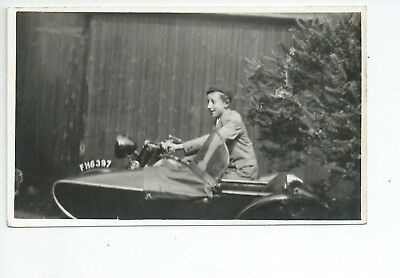 6th Real photo postcard of an early motorcycle in very good condition