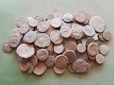 12a.  Roman Coins, LOT 100 - For Cleaning