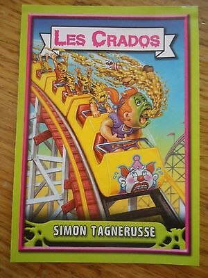 Image * Les CRADOS 3 N°53 * 2004 album card Sticker FRANCE Garbage Pail Kid