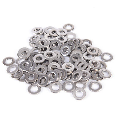 100X Stainless Steel Washers Metric Flat Washer Screw Kit M3 M4 M5 M6 M8 M10  SY
