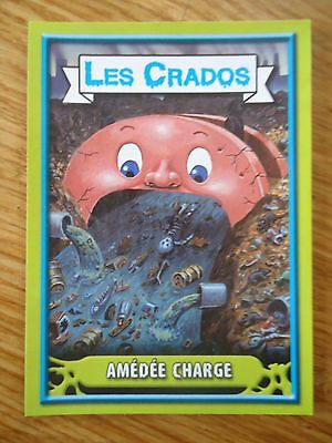 Image * Les CRADOS 3 N°2 * 2004 album card Sticker FRANCE Garbage Pail Kid