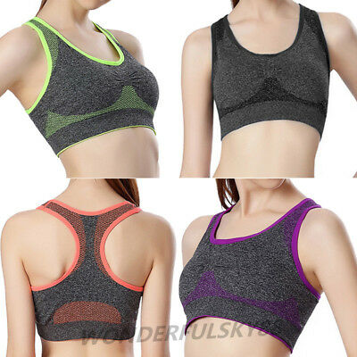 NEW Black Seamless Sports Style Bra Crop Top Vest Comfort Stretch Bras Shapewear